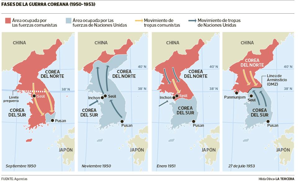 Mapa Guerra De Corea.Las Dos Coreas Una Guerra Que Aun No Termina La Tercera