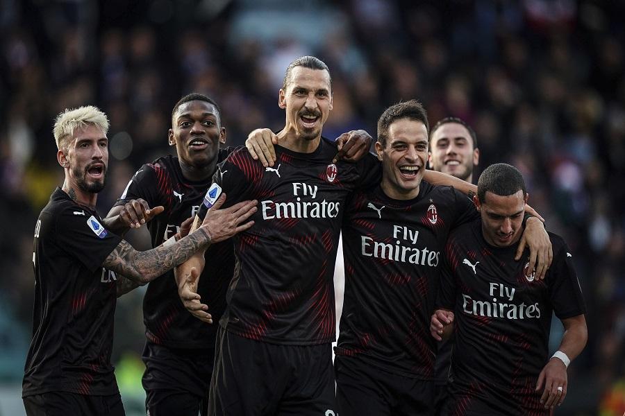 Zlatan marca su primer gol desde su regreso al Milan - La Tercera