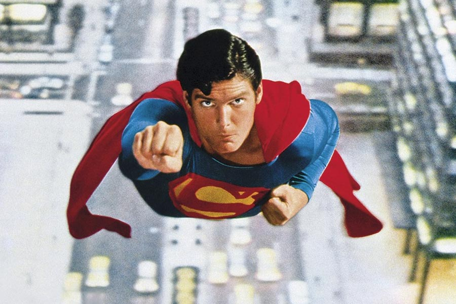 Christopher Reeve en su papel de Superman